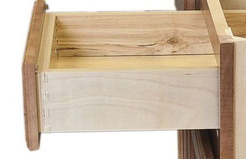 3 4 Plywood Drawer With Dovetail Joints Sides And Bottom In A Natural Finish And Undermount Drawer Slides